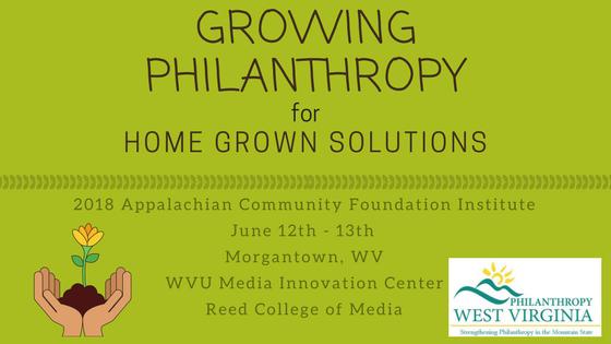 2018 Appalachian Community Foundation Institute
