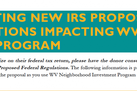 2018 NIP Tax Credits & Proposed Regulations