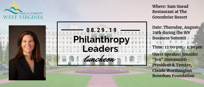 Philanthropy Leaders Luncheon with Benedum Foundation President & Trustee Jen Giovannitti