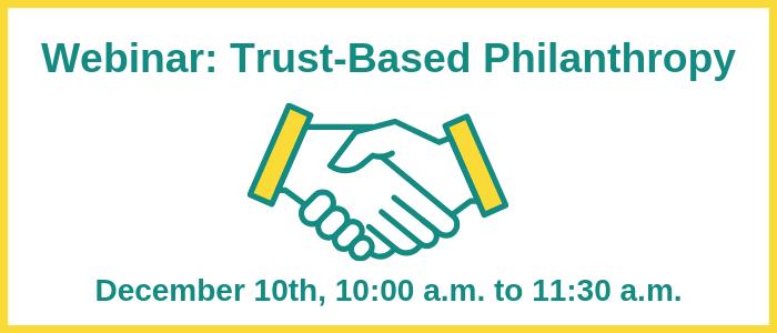 All Members Webinar: Trust-Based Philanthropy