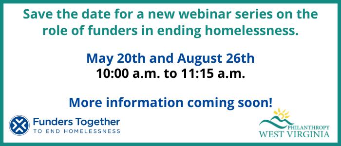 Funders to End Homelessness – Webinar Series