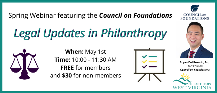 Webinar – Legal Updates in Philanthropy