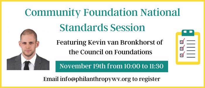 Community Foundation National Standards Session