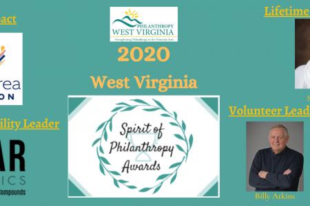 2020 WV Spirit of Philanthropy Honorees Announced