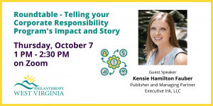 Statewide Corporate Responsiblity Roundtable Thurs, October 7 1 PM - 2:30 PM on Zoom